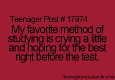 haha perfect for finals week
