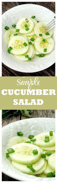 Simple Cucumber Salad - Simple and so easy to make, but SO GOOD!!