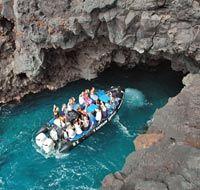 Captain Zodiak..snorkeling/boat tour through lava caves. The Big Island, HI!