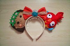 Moana and Hei hei Felt Plush Mickey Ears