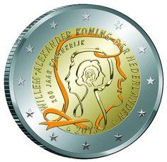 New 2 euro coin celebrates 200 years of the Dutch kingdom