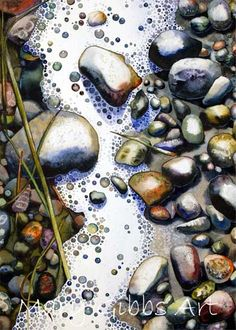 Island Rocks - watercolor painting by Mary Gibbs by christina carrera Acrylic Painting Lessons, Artist Painting, Painting & Drawing, Watercolor Paintings, Watercolors, Watercolor Artists, Watercolor Techniques, Abstract Paintings, Oil Paintings