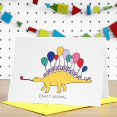 Party Animal Dinosaur Card
