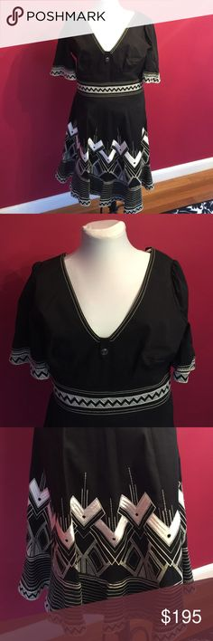 """🌟new listing🌟 """"Aztec"""" Karen Millen dress Karen Millen Aztec Dress. This is one of my two favorites of my Karen Millen dress collection. But it's too big for me now and I haven't worn it in about 2 years. It's in perfect condition and I always got so many compliments. 66% cotton, 30% elastane, lining 100 cotton. Karen Millen Dresses Midi"""