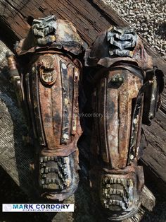 Post Apocalyptic Mad Max armour (greaves) made by Mark Cordory Creations www.markcordory.com: