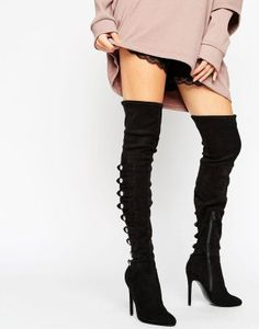 4ea640baad16 ASOS Karianne Multi Strap Over The Knee Boots