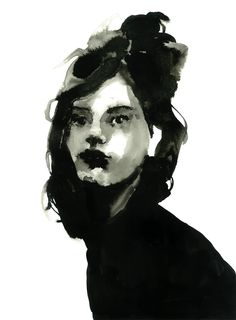 Indian ink portrait on Behance