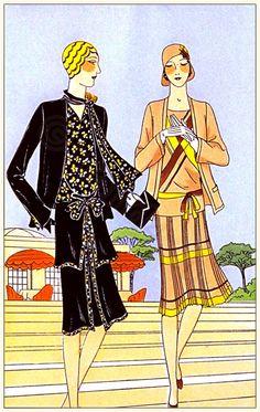 Les Créations Parisiennes. French Art Deco Fashions 1929.