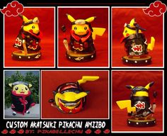 Custom Amiibo Pikachu Akatsuki by pikabellechu on DeviantArt