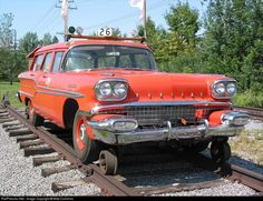 Built by GM in 1958, was purchased by the Central Vermont and subsequently outfitted by Fairmont with Hyrail equipment. Was used in track inspection service until 1967 when it was donated by the CNR to the Bytown Railway Society.