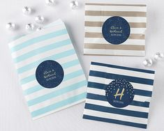 Personalized Under The Stars Striped Favor Bags (Set of 25)