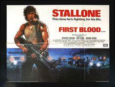 First Blood CineMasterpieces UK British Quad Original Movie Poster Rambo 1982   eBay