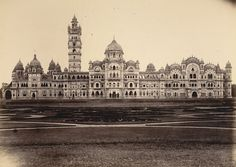 Lakshmi Vilas Palace at Baroda(Vadodara) in Gujarat about 1890 built for the Gaekwar Sayaji Rao III - India Palace, Colonial India, Amazing India, India Culture, Vintage India, Indian Architecture, Visit India, India Tour, Ancient History