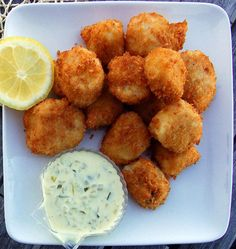 Fried Dayboat Sea Scallops. Photo courtesy of Mark Wiklund. with panko