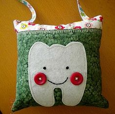 tooth fairy pillow pattern | ... for him/her? I am sure they'll love this lost-tooth pillow or sac