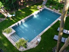 Top Natural Small Pool Design Ideas To Copy Asap - If you want a backyard pool, but don't want to spend tens of thousands of dollars installing it, then a natural swimming pool is the way to go. Pool Spa, Swimming Pools Backyard, Swimming Pool Designs, Small Backyard Pools, Outdoor Pool, Swiming Pool, Backyard Pool Landscaping, Landscaping Ideas, Piscina Rectangular