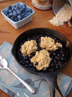 Blueberry Breakfast Cobbler   The Oatmeal Artist