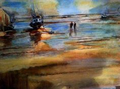Boat on the Shore - Painted by Isabel Macleod