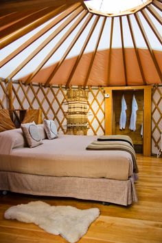 Yurt at Patagonia Camp. Glamping in Patagonia. Yurt Living, Tiny Living, Yurt Interior, Interior Design, Luxury Yurt, Yurt Home, Small Places, Outdoor Rooms, My Dream Home