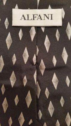 NEW Affordable Alfani Geometric 100% Silk Multi Color Classic Mens Neck Tie  #Alfani #NeckTie