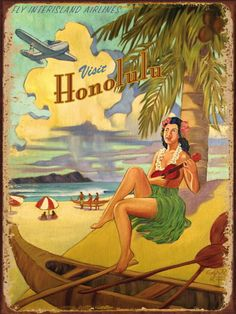 Honolulu Travel Poster***Research for possible future project.