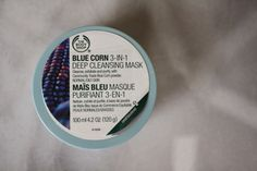 The Body Shop's Blue Corn Deep Cleaning Mask, this stuff is AMAZING. starts out as an exfoliator and changes to a mask!