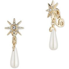 Jenny Packham 6.5MM Faux Pearl Fireworks Drop Earrings ($55) ❤ liked on Polyvore featuring jewelry, earrings, gold, fake pearl earrings, faux pearl drop earrings, drop earrings, faux pearl earrings and jenny packham jewelry