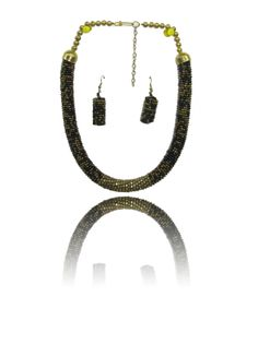 Necklace With Earrings Set: Buy Flexible Cord Necklace And Earrings Online In India for Cheap only at Thia Beaded Necklace, Necklaces, Earrings Online, Earring Set, Cord, India, Stuff To Buy, Jewelry, Beaded Collar