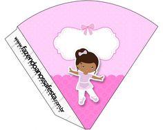 Cone Guloseimas Bailarina Afro Rosa:
