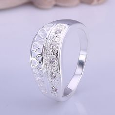 silver plated ring fashion jewelryqwsdef ring SMTR423