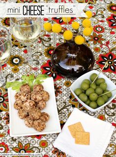 mini cheese truffles recipe