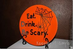 Keeping it Simple: Eat. Drink. Be Scary Plate