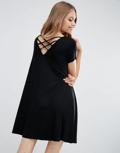 ASOS Swing Dress with Strap Back Detail