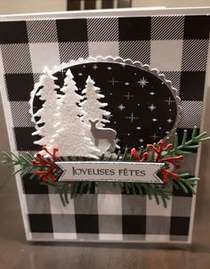 Christmas Cards 2018, Christmas Paper Crafts, Homemade Christmas Cards, Xmas Cards, Homemade Cards, Holiday Cards, Christmas Greetings, Stamping Up Cards, Winter Cards