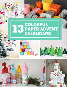 13 Colorful DIY Paper Advent Calendars You Can Make.