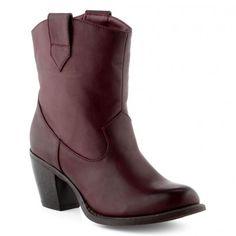 Boots/Bottines bordeaux pour Femme : Boots/Bottines Cable - 47,99€