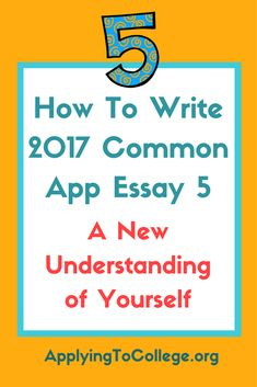 sample essays for college application