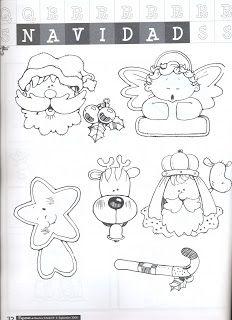 Moldes para Todo: && Dibujos de Navidad &&