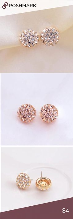 Super cute rhinestone earrings Brand new rhinestone earrings. Price: 2/$6 or 3/$8. You can mix and match earrings. If you only need 1 pair of earrings, price is $4 but you will have to bundle with another item. Jewelry Earrings