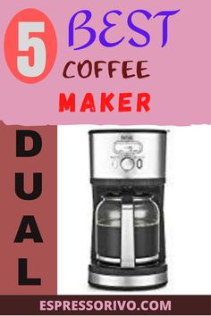 A coffee maker is an essential elemaent of any kitchen.The coffee maker you choose matters, because you'll be using it everyday. To click And visit our websit. #dualcoffeemaker #espressorivo #coffeemaker #bestcoffeemaker Dual Coffee Maker, Best Coffee Maker, Coffeemaker, Coffee Type, Carafe, Brewing, The Help, Canning, Kitchen