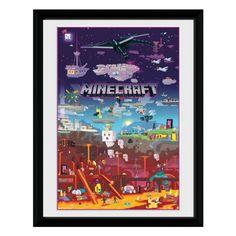 Minecraft Art Print: World Beyond
