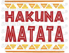 Hakuna Matata Lion King Disney Shirt Decal Cutting File / Printable Clipart in Svg, Eps, Dxf, Png, and Jpeg for Cricut & Silhouette