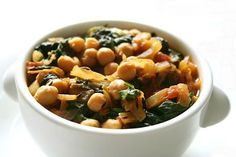 Chickpeas and Spinach Curry