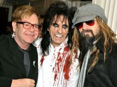 haha, this is so wonderfully odd! Elton John, Alice Cooper, Rob Zombie.