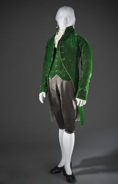 Man's Coat and Waistcoat France, circa 1805-1810 Costumes; principal attire (upper body) Silk LACMA Collections