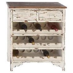 turn the old microwave cart into a wine cart, use pallets to build wine racks on shelves  Elise 18 Bottle Wine Cabinet in White