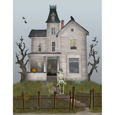 Home for the Holidays Print by FullFrogMoon Halloween print