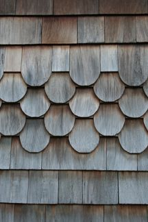 Shingle design patterns crafted products siding for Fish scale shingles