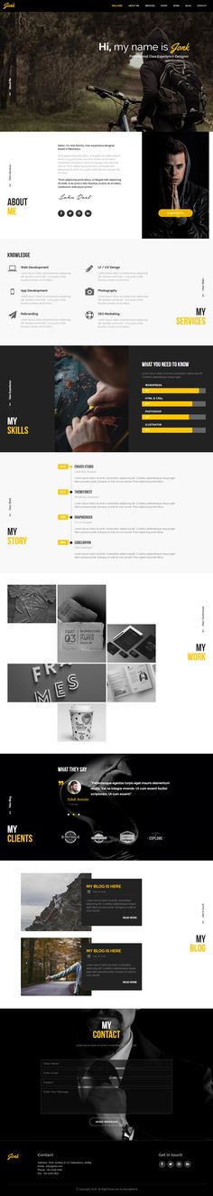 JONK is Premium full Responsive #Muse #Resume Template. One Page. Font Icons. Google Mobile Check. #CleanDesign. Test free demo at: http://www.responsivemiracle.com/jonk-premium-cv-resume-personal-muse-template/