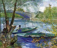 Fishing in Spring, Pont de Chichy Vincent van Gogh